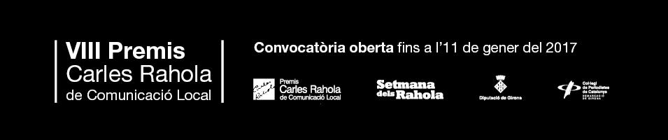 Premis Carles Rahola 2016-2017