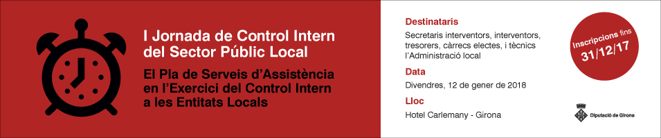 I Jornada de Control Intern del Sector Públic Local