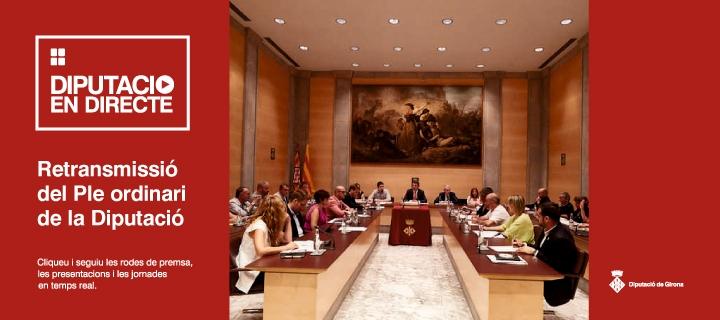 Ple ordinari del mes de setembre de la Diputació de Girona