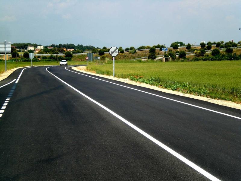 Foto 1 : <p>Inici de la millora de la carretera que uneix Llagostera amb les urbanitzacions Selva Brava i Fontbona</p>