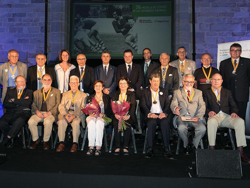 Foto 1 : <p>Les Medalles de l&rsquo;Esport homenatgen el llegat esportiu de quinze gironins</p>