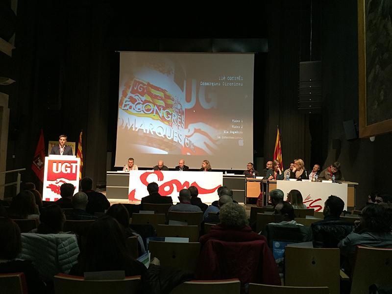 Foto 2 : <p>Jordi Camps destaca l&rsquo;increment d&rsquo;afiliats a la UGT a Catalunya durant l&rsquo;onz&egrave; Congr&eacute;s del sindicat</p>