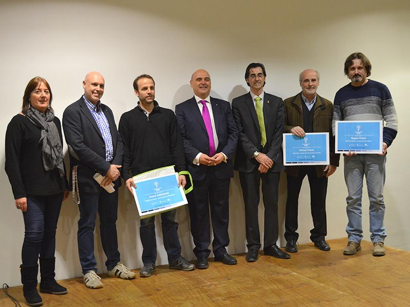 Foto 1 : <p>Fotografia de grup dels premiats. (Autoria: Ajuntament de Cass&agrave; de la Selva)</p>