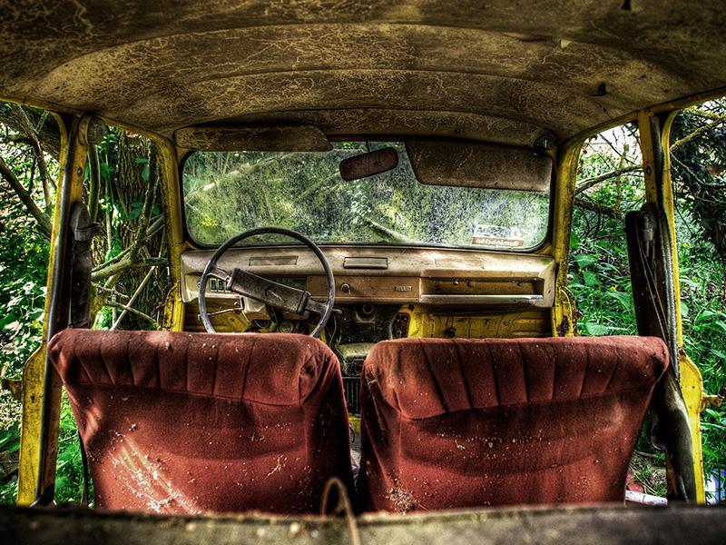 Foto : Fotografia de l'exposició Abandoned places. Alicia Rius.