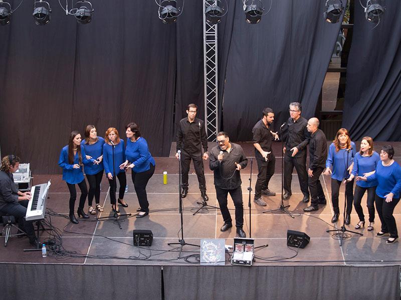 Foto 1 : <p>Els concerts del Pati Cultural, el grup Fusions de Palam&oacute;s i les bandes i Va de guitarres... del conservatori de Girona</p>