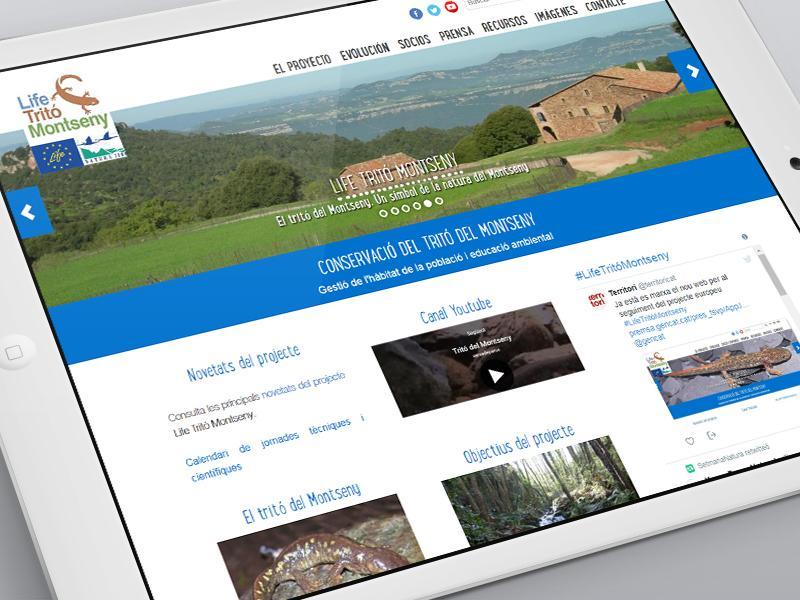 Foto 1 : <p>En servei un nou web per seguir les accions del projecte &laquo;LifeTrit&oacute;Montseny&raquo;</p>