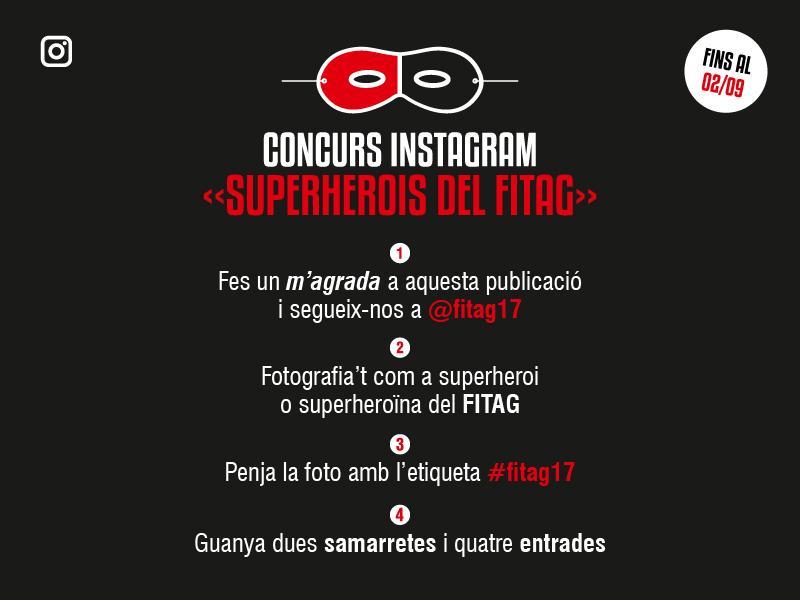 Foto 1 : <p>Arrenca el concurs d&rsquo;Instagram &laquo;Superherois del FITAG&raquo;</p>