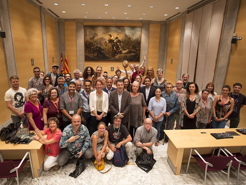 Foto 1 : <p>La Diputaci&oacute; de Girona rep les companyies que actuen al FITAG</p>
