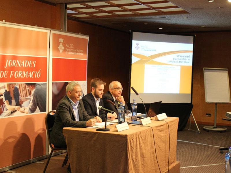 Foto 2 : Sisena sessió del VI Seminari d'actualització jurídica i dret local de XALOC<br><br>
