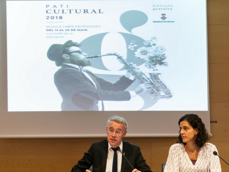 Foto 2 : Presentació del Pati Cultural 2018, que arriba amb un cartell renovat de propostes musicals i d'arts escèniques<br>