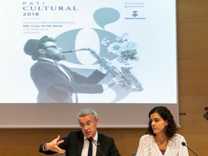 Foto 3 : Presentació del Pati Cultural 2018, que arriba amb un cartell renovat de propostes musicals i d'arts escèniques<br>