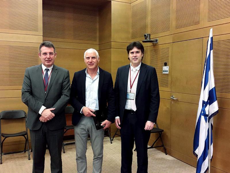 Foto : Visita al Parlament d'Israel.<br>