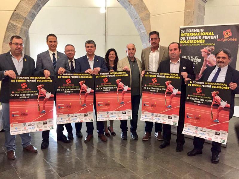Foto 1 : Vuitanta tennistes classificades entre les 150 i 300 millors del món, al Torneig de Tennis Femení de la Bisbal<br>