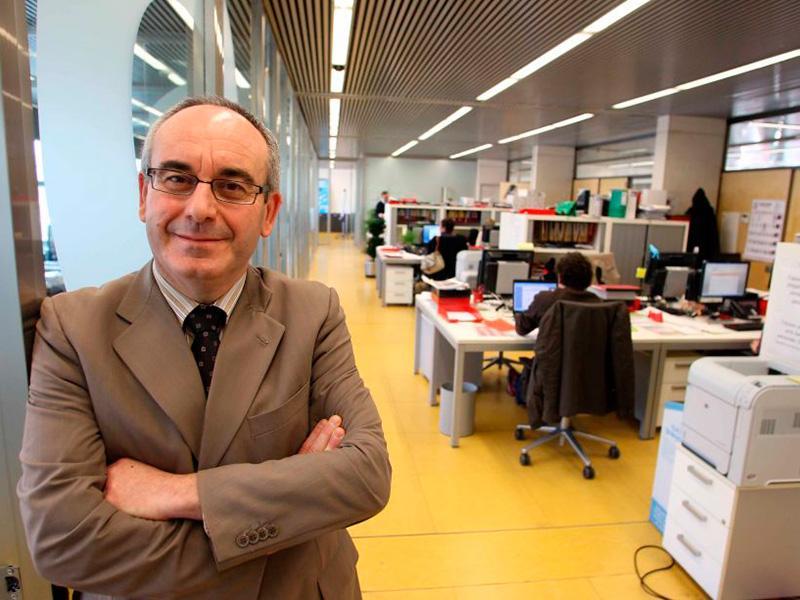 Foto : Imatge d'arxiu de Josep Marigó a la seu de Dipsalut, l'any 2011. Autor: Pere Duran