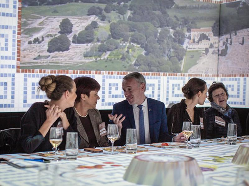 Foto 1 : L'experiència sensorial TastEmotion presenta l'oferta turística de la Costa Brava i el Pirineu de Girona a una seixantena d'agents de viatges i prescriptors alemanys