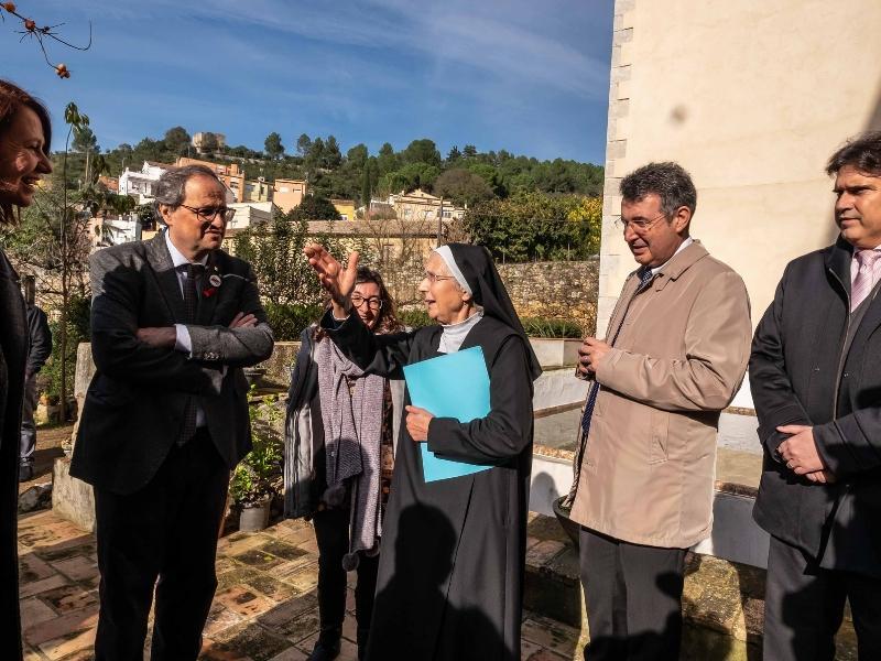 Foto 5: <div>Miquel Noguer assisteix a l'acte de cloenda del Mil·lenari del Monestir de Sant Daniel</div>