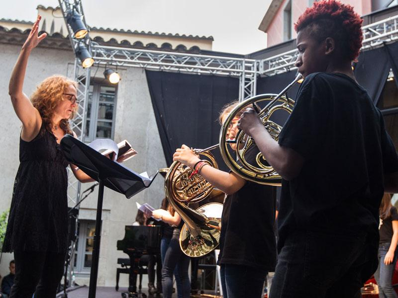 Foto 15: El concert de la Fundació Pau Casals dona el tret de sortida al Pati Cultural 2018