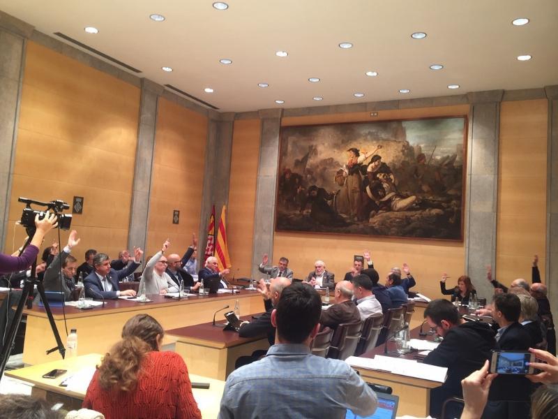 Foto 1 : La Diputació de Girona aprova un pressupost general de 141 milions d'euros per a l'exercici de 2019, 8 milions més elevat que el de l'any passat<br>
