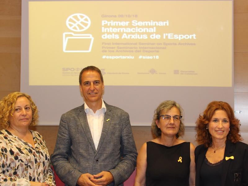 Foto : Presentació del Primer Seminari Internacional dels Arxius de l'Esport<br>
