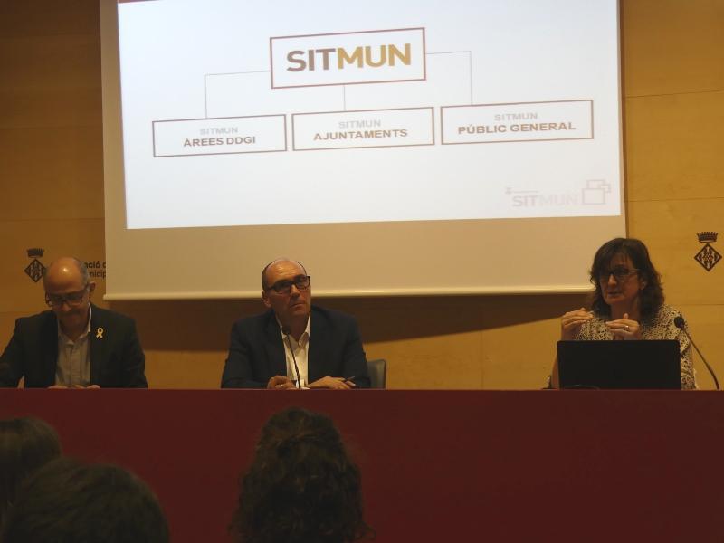 Foto 3 : Presentació de la nova integració al Sistema d'Informació Territorial Municipal (SITMUN)<br>