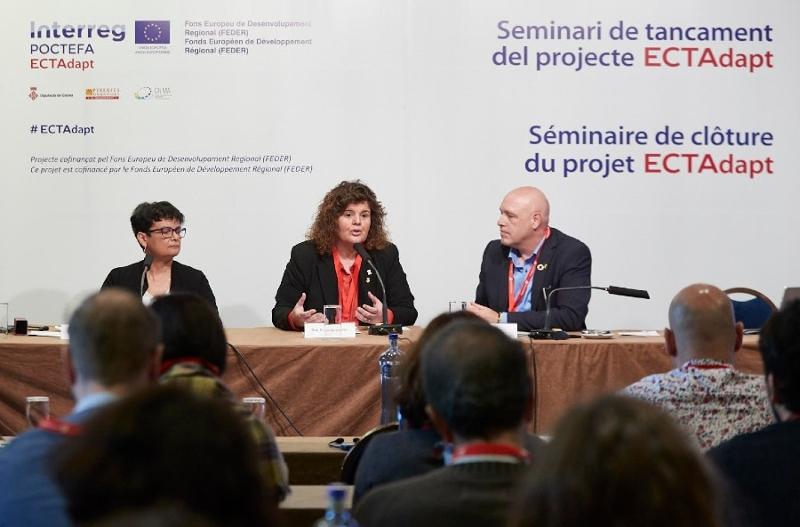 Foto : <p>Seminari de tancament del projecte ECTAdapt, per adaptar l&rsquo;Espai Catal&agrave; Transfronterer al canvi clim&agrave;tic</p>
