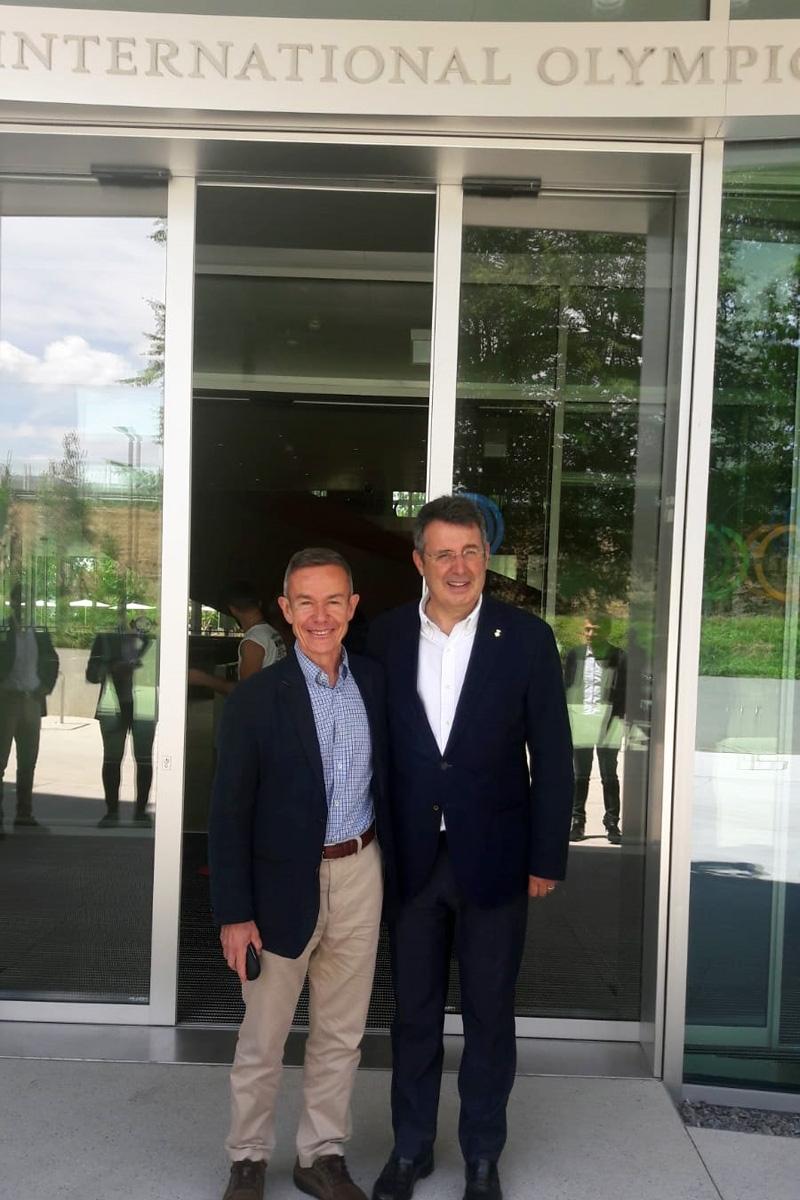 Foto 2 : El president Miquel Noguer visita la seu del COI (Comitè Olímpic Internacional) a Lausana<br>