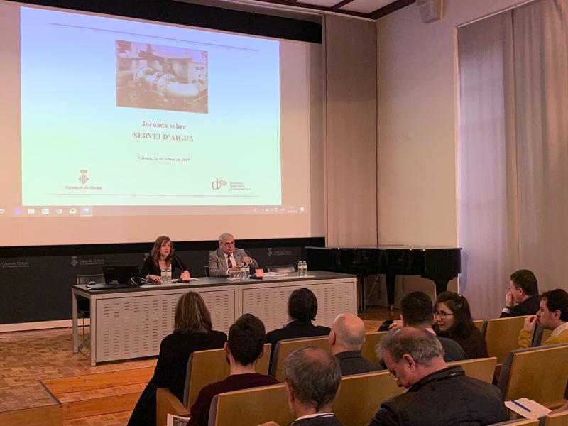 Foto 2 : La Jornada sobre el Servei d'Aigua arriba a Girona<br>
