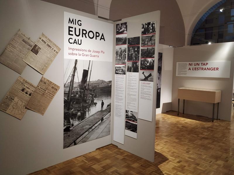 Foto 6: <p>L&rsquo;exposici&oacute; &laquo;Mig Europa cau. Impressions de Josep Pla sobre la Gran Guerra&raquo; arriba a Girona</p>