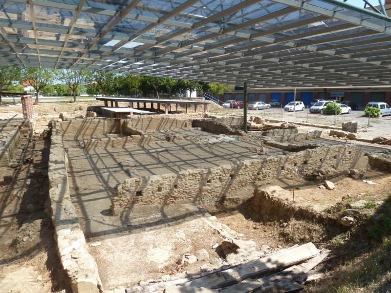 Foto 1 : La Diputació ultima els treballs a la vil·la romana de Sarrià de Ter, una de les més ben conservades de Catalunya