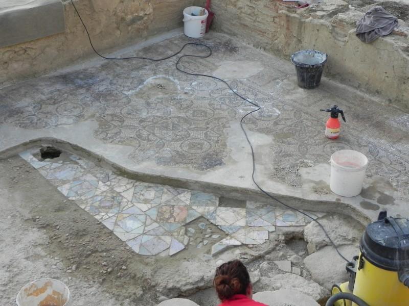 Foto 2: La Diputació ultima els treballs a la vil·la romana de Sarrià de Ter, una de les més ben conservades de Catalunya