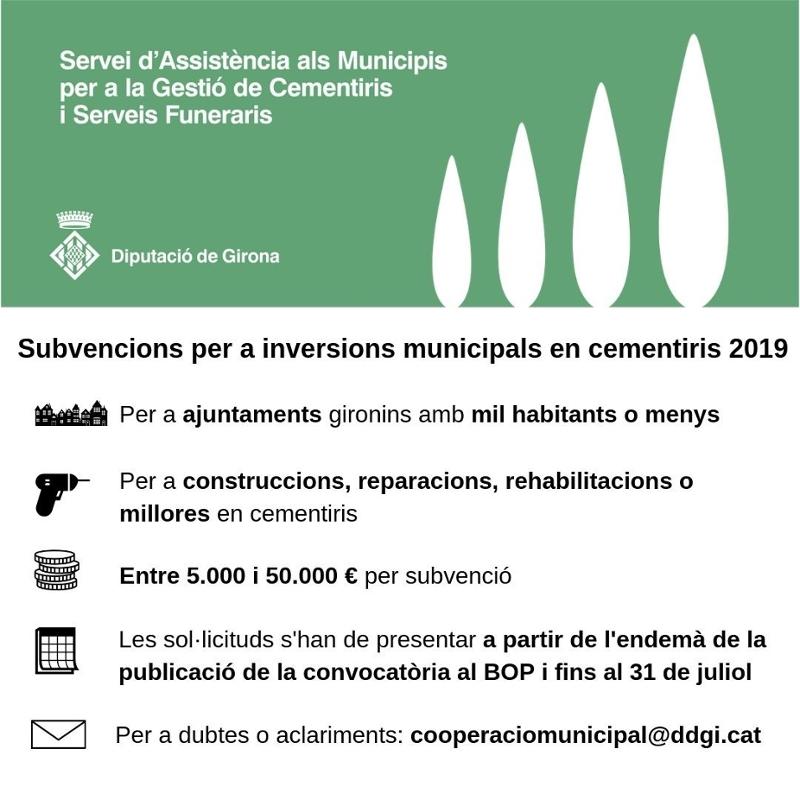 Foto 2 : La Diputació invertirà 200.000 euros als cementiris dels municipis gironins amb menys de mil habitants