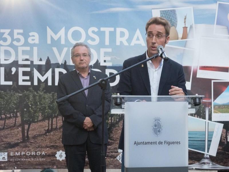 Foto 1 : Jordi Masquef a la 35a Mostra del Vi de l'Empordà<br>