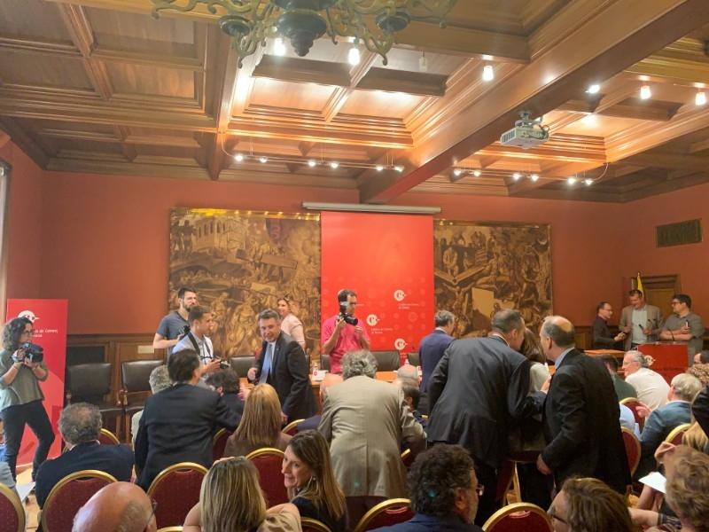 Foto 3 : Miquel Noguer assisteix a la constitució del nou plenari de la Cambra de Comerç de Girona
