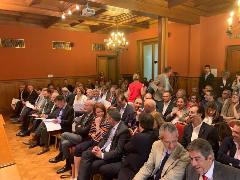Foto 1 : Miquel Noguer assisteix a la constitució del nou plenari de la Cambra de Comerç de Girona