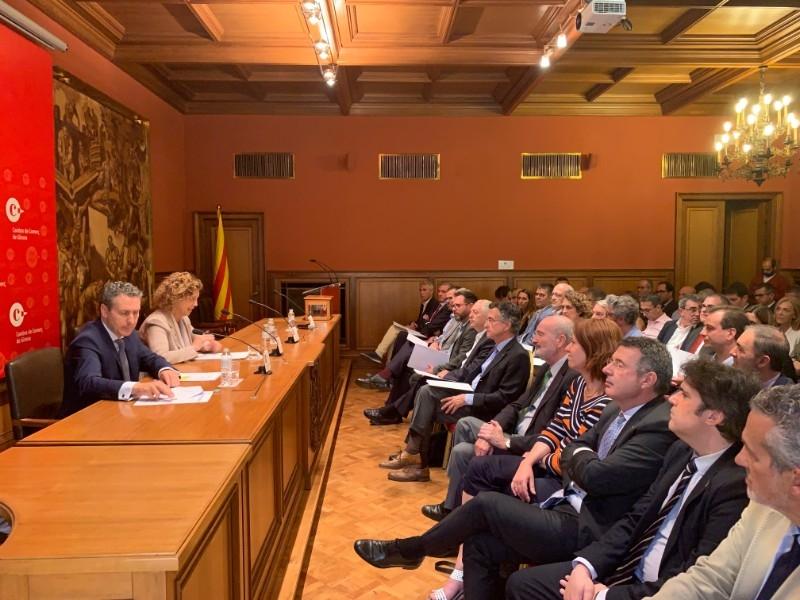 Foto 2 : Miquel Noguer assisteix a la constitució del nou plenari de la Cambra de Comerç de Girona