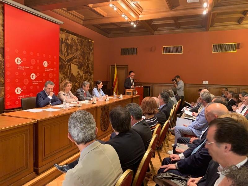 Foto 4: Miquel Noguer assisteix a la constitució del nou plenari de la Cambra de Comerç de Girona