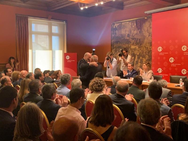 Foto 5: Miquel Noguer assisteix a la constitució del nou plenari de la Cambra de Comerç de Girona