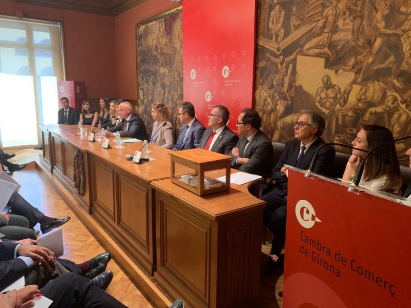 Foto 7: Miquel Noguer assisteix a la constitució del nou plenari de la Cambra de Comerç de Girona