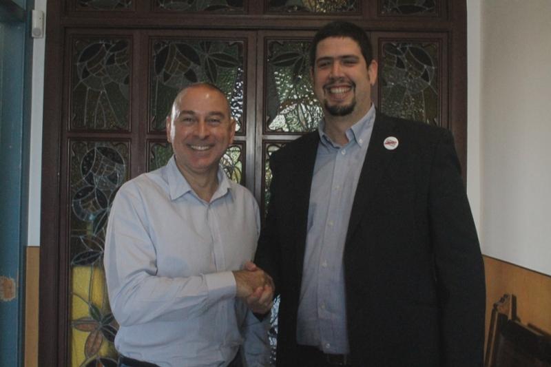 Foto : Visita del president accidental, Pau Presas, a Cassà de la Selva