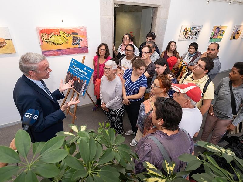 Foto 2 : «Els meus colors»: l'exposició d'El Trampolí al Claustre de la Diputació de Girona