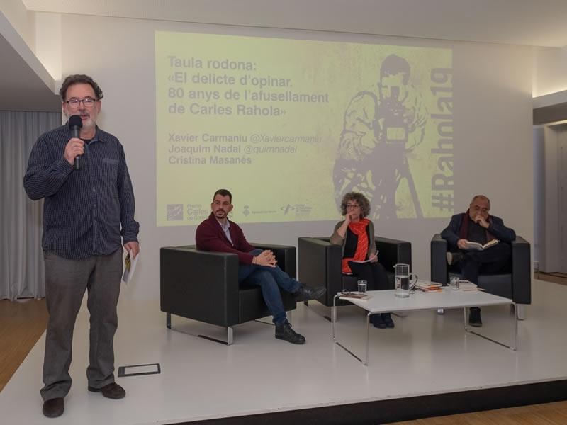 Foto 2 : «El delicte d'opinar. 80 anys de l'afusellament de Carles Rahola» <br>