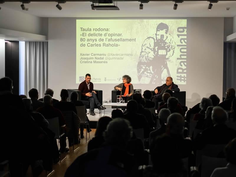 Foto 3 : «El delicte d'opinar. 80 anys de l'afusellament de Carles Rahola» <br>