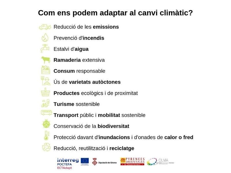 Foto 3 : Vídeo del CILMA per sensibilitzar la població de l'Espai Català Transfronterer sobre el risc de no adaptar-se al canvi climàtic<br>