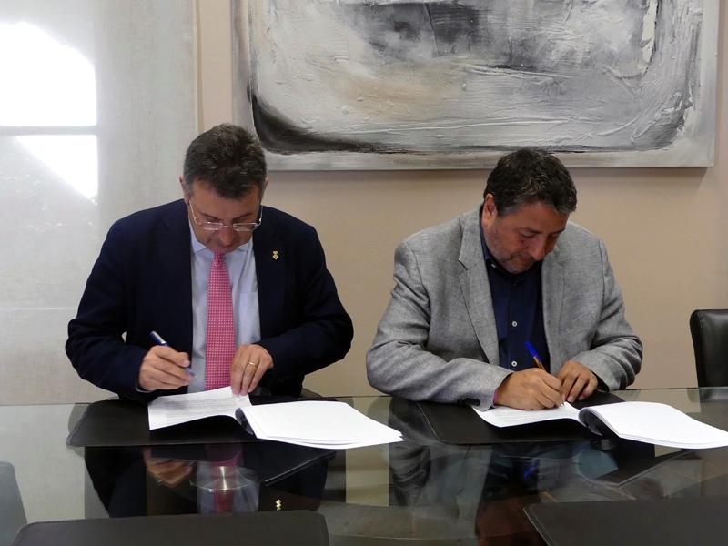 Foto 5: La Diputació de Girona i la Ricky Rubio Foundation signen un conveni per implantar el projecte «Community Team»<br>