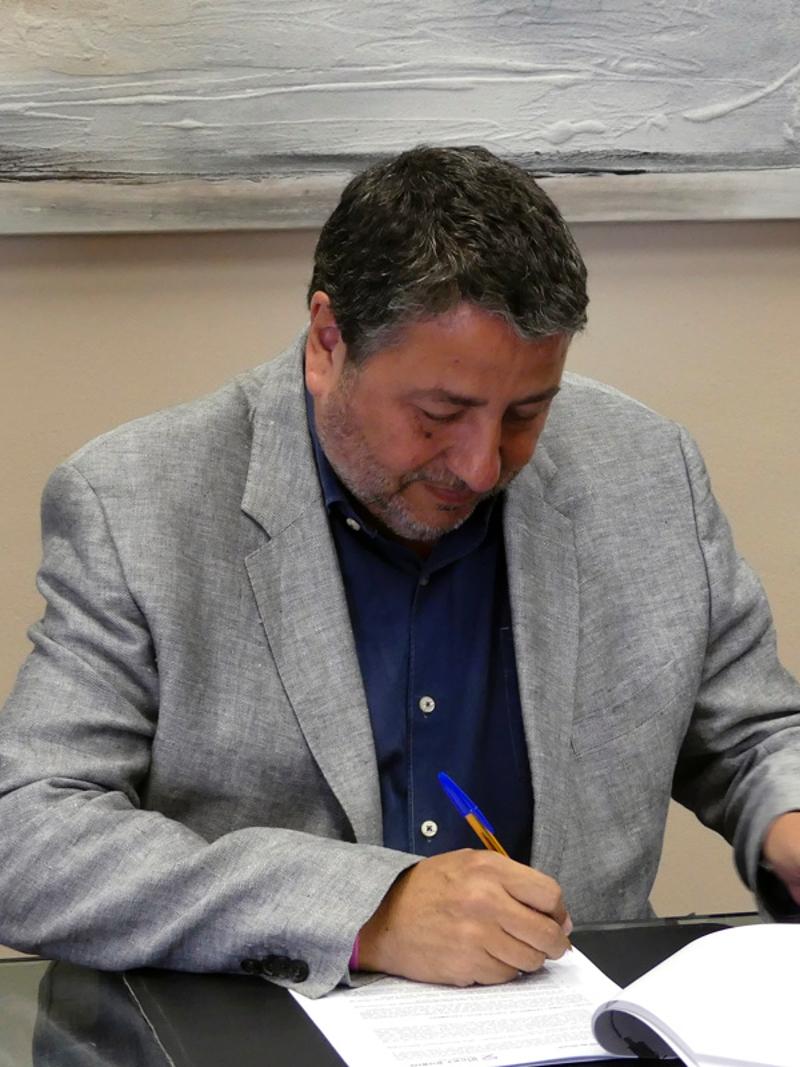Foto 4: La Diputació de Girona i la Ricky Rubio Foundation signen un conveni per implantar el projecte «Community Team»<br>