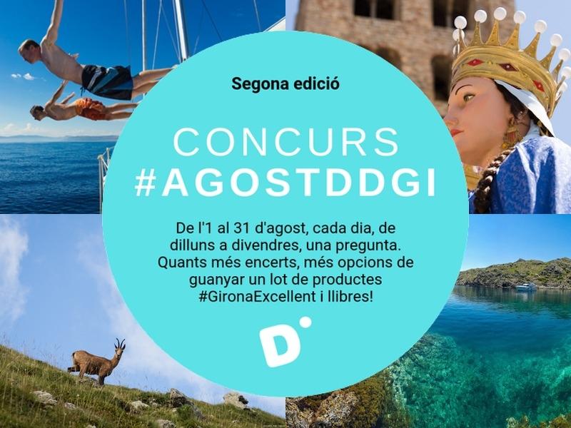 Foto 1 : La Diputació de Girona convoca el segon concurs de Twitter #AgostDdGI