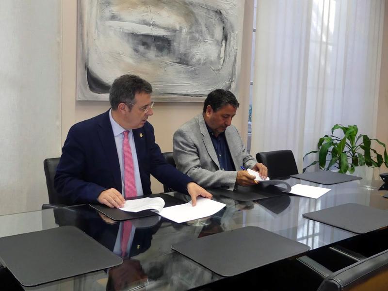 Foto 2 : La Diputació de Girona i la Ricky Rubio Foundation signen un conveni per implantar el projecte «Community Team»<br>