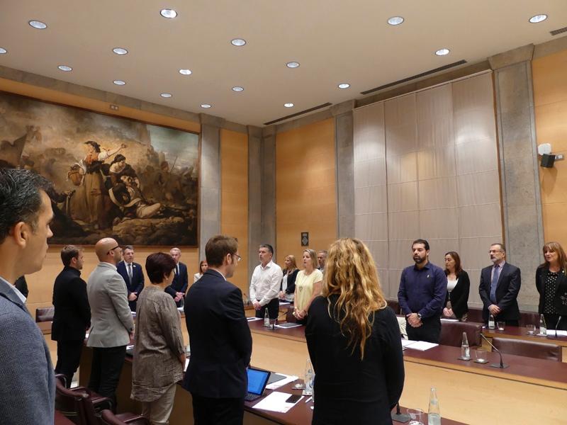 Foto 4: La Diputació de Girona s'adhereix a la moció de resposta a la Sentència del Tribunal Suprem, demana l'amnistia per als presos polítics catalans i defensa el dret d'autodeterminació<br>