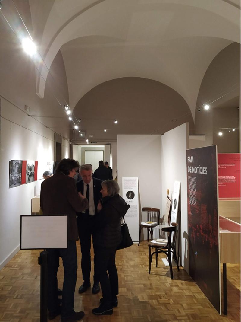 Foto 3 : <p>L&rsquo;exposici&oacute; &laquo;Mig Europa cau. Impressions de Josep Pla sobre la Gran Guerra&raquo; arriba a Girona</p>