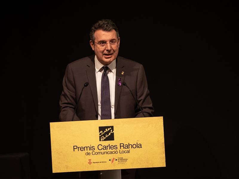 Foto 2 : Lliurament dels X Premis Carles Rahola de Comunicació Local